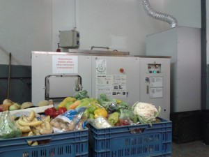 A GG50 composter installed at Albert Hypermarket located in the municipality Čestlice, Czech Republic