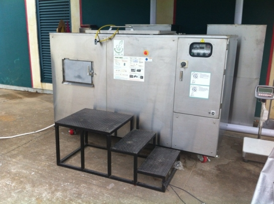 GG50 installed at Macau International Airport to compost food waste as part of their sustainable development.