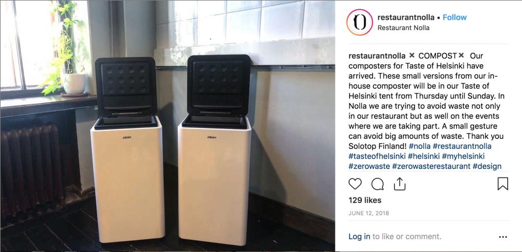 composter, zero waste restaurant